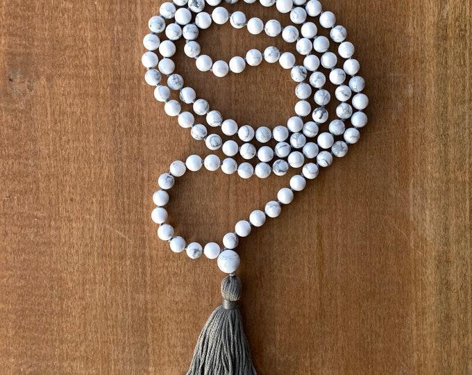 Howlite Mala Beads and Wrap Bracelet