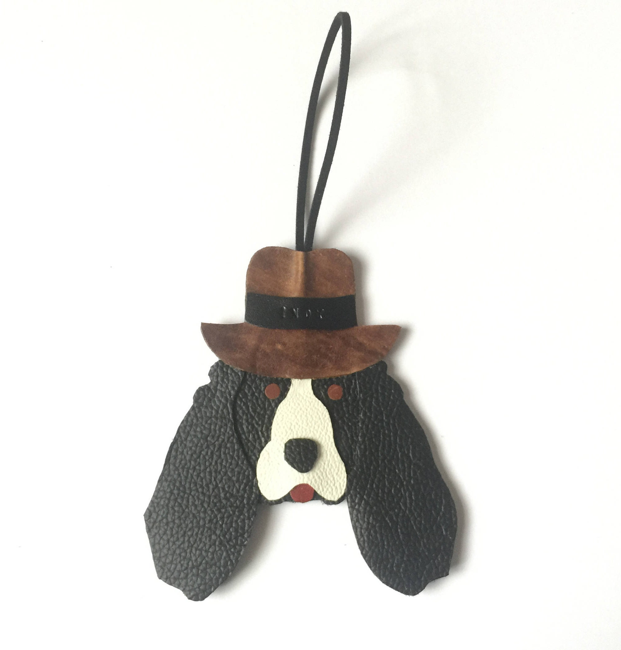Springer Spaniel Ornament Personalised Leather Fedora Hat Handmade 9580d0156da
