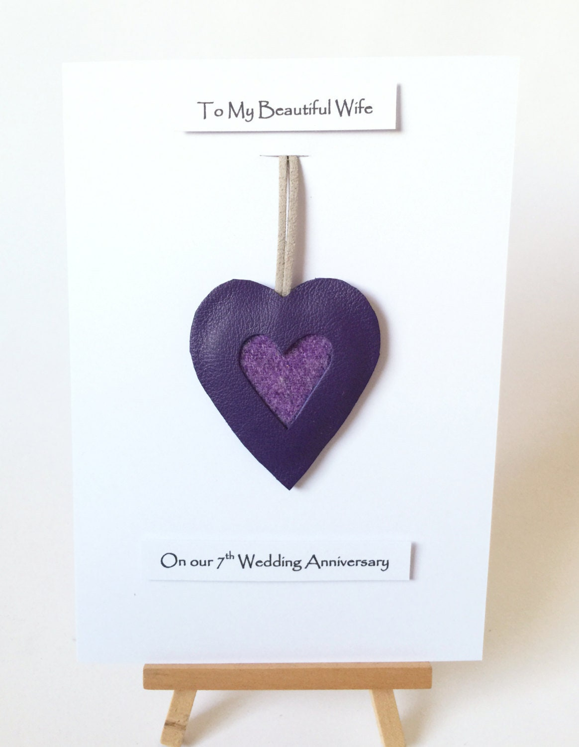 7th Wedding Anniversary Cards Wool Anniversary Gifts