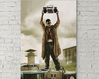 Say Anything Walking Dead Canvas Framed Wall Art Inspired From Walking Dead And Say Anything John Cusack In Your Eyes