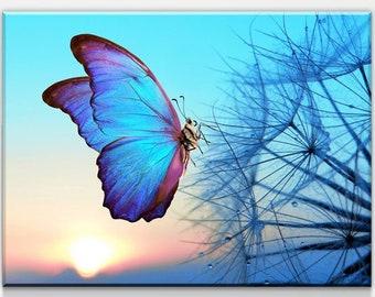Butterfly Canvas Art Etsy