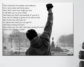 Rocky Balboa Canvas Etsy