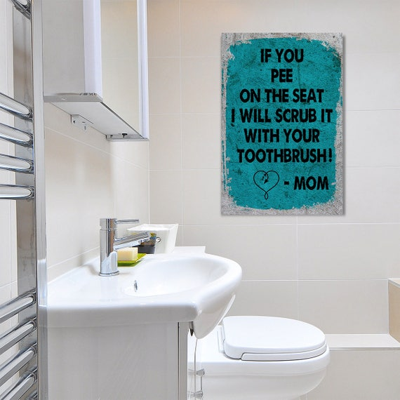 Bathroom Art Framed Canvas Wall Art For Bathroom Decor If You Etsy