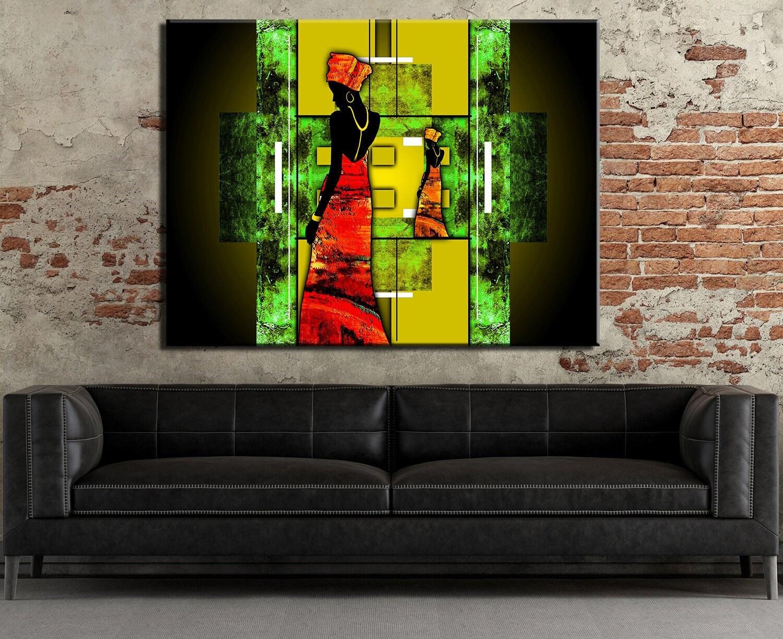 African ethnic retro Art Canvas Art Cheap Wall Print Home Interior