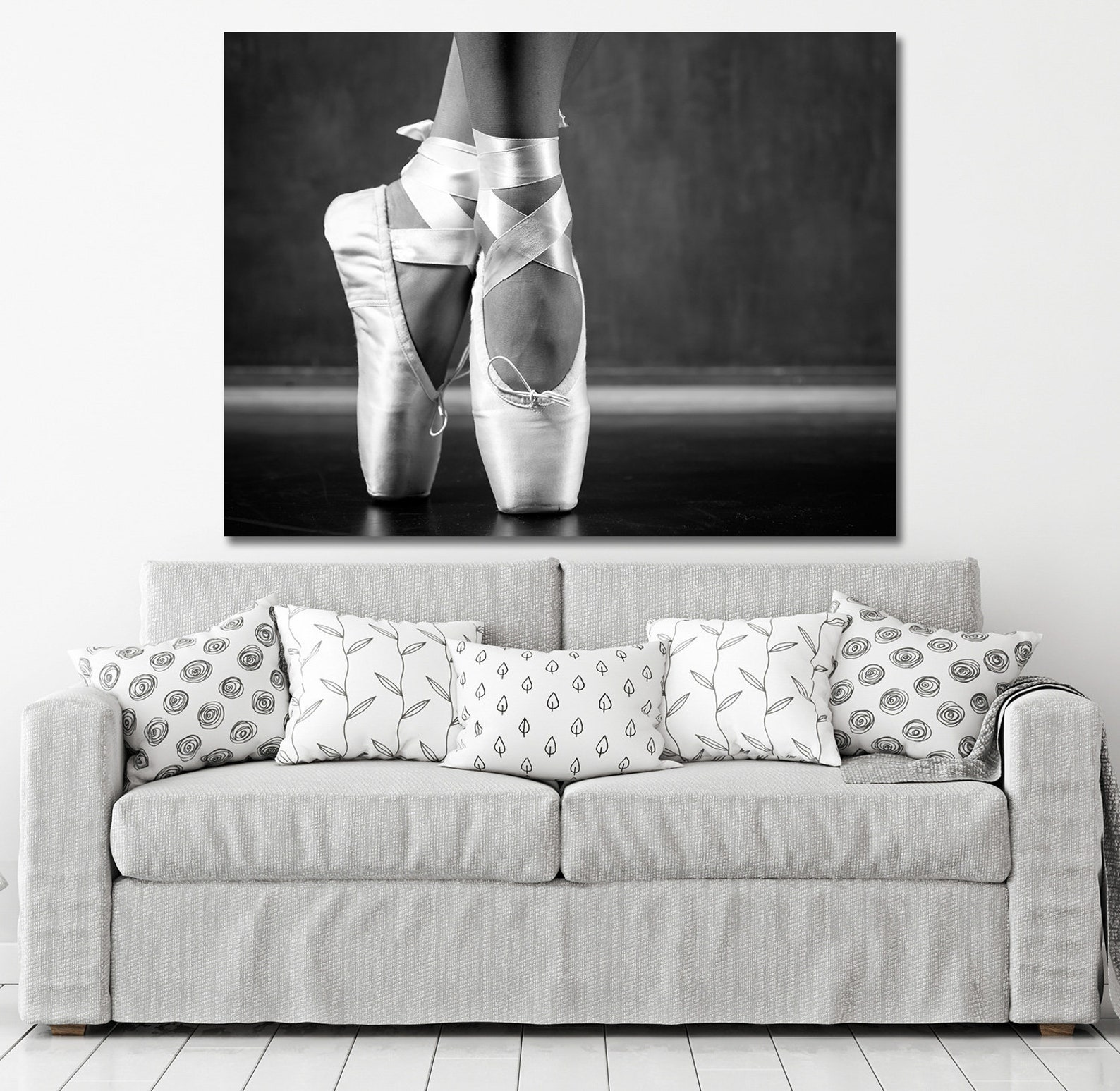 ballerina canvas wall art, ballet art, ballerina wall art, young dancing ballerina