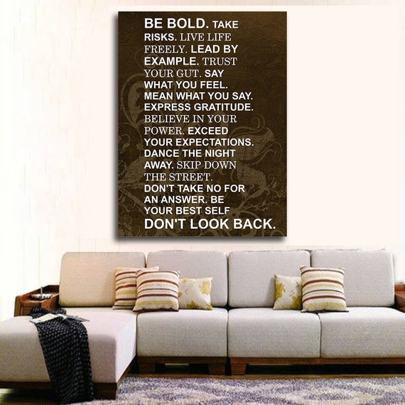 Be Bold Take Risks Live Life Freely Lead By Example | Etsy