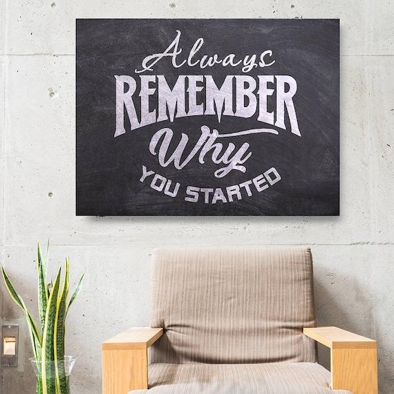 Home Decor Always RememberInspirational QuoteCanvas Wall Art Print Stre...