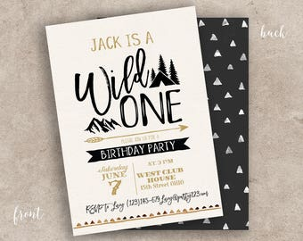 Nature invitation etsy mountain wild one invitation camping summer party invitation rustic hes a wild one birthday invitation mountain outdoor nature party stopboris Gallery