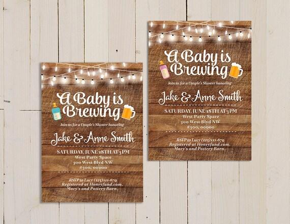 Ein Baby ist das Brauen Einladung co-Ed Babyparty laden Bier   Etsy