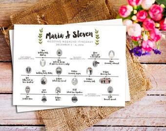 wedding weekend itinerary template, Destination Wedding Weekend Itinerary, wedding timeline printable, DIY Printable Wedding Timeline,