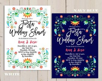 fiesta wedding shower invitation, mexican wedding shower invite, Cinco de Mayo Invitation, Printable Fiesta Invitation, Mexican Party