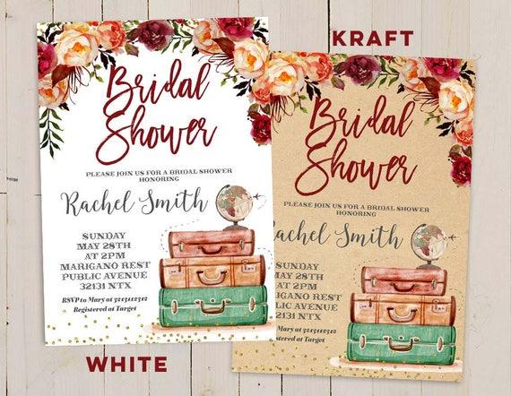 c156106d22d Destination Wedding Bridal Shower Invitations Autumn bridal