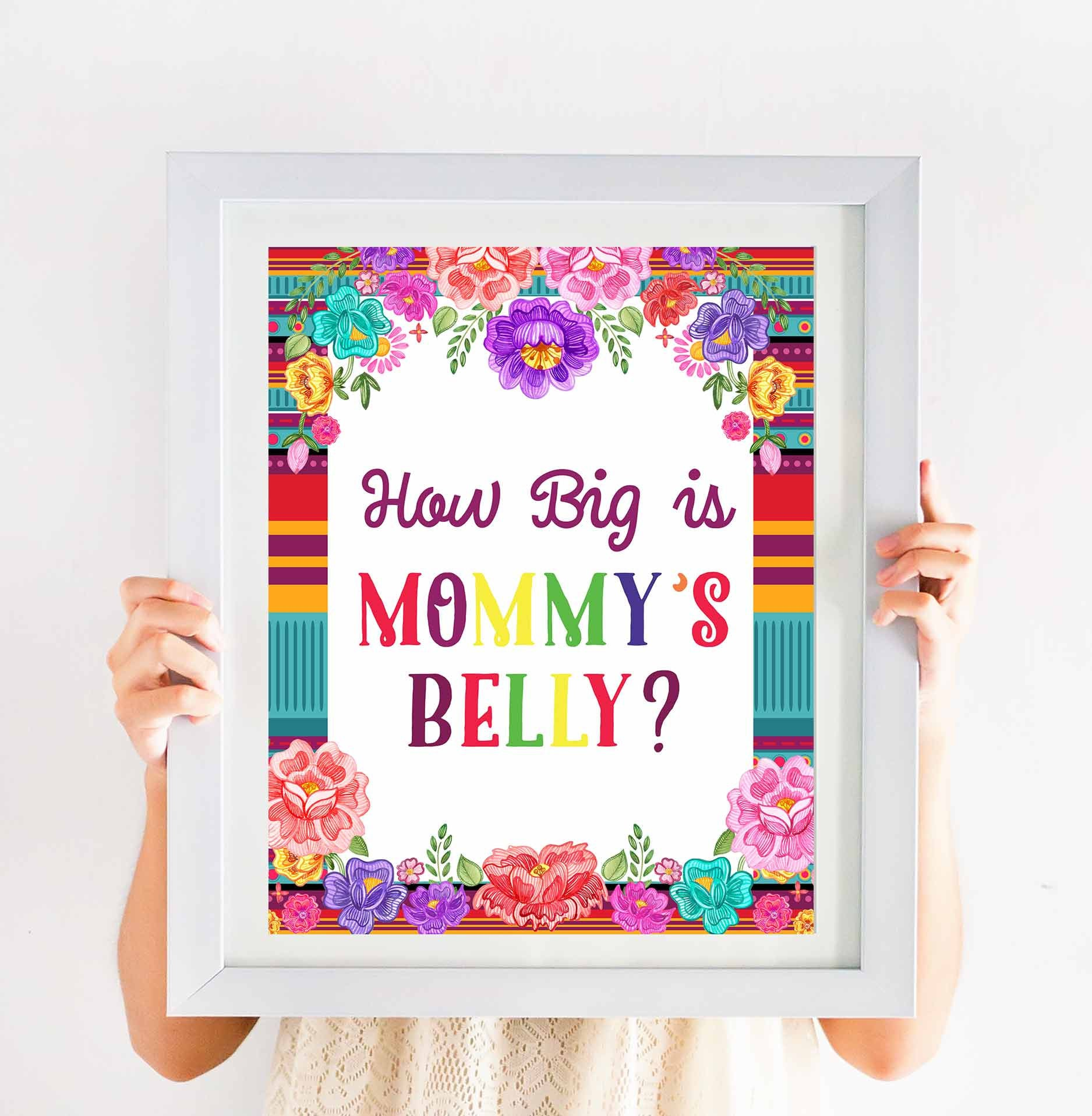 Fiesta How Big Is Mommy Belly Game Guess How Big Is Etsy