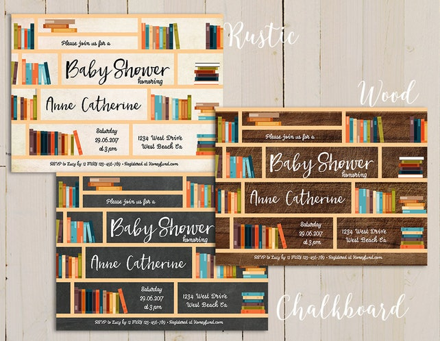 Book themed baby shower story book baby shower invitation etsy image 0 filmwisefo
