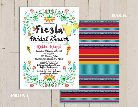 Fiesta Bridal Shower Invitation Mexican