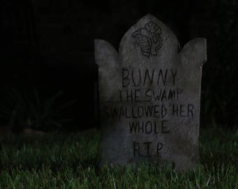 Customizable Haunted Mansion Inspired Tombstone - Style Three.