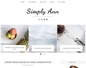 Blogger Template, Blogger Theme, Template Responsive, Minimal, Simple, Grid, Slider, Design, Blogspot - LIVE: www.bit.ly/SimplyAnn