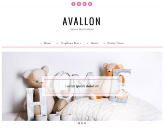 Blogger Template, Blogger Theme, Template Responsive, Minimal, Simple, Grid, Slider, Design, Blogspot - Avallon