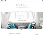 Responsive Blogger Template, Blogger Theme Minimal, Blog Design, Blog Template, Blogspot Theme, Blogspot Template, Blogger Layout - Amabel