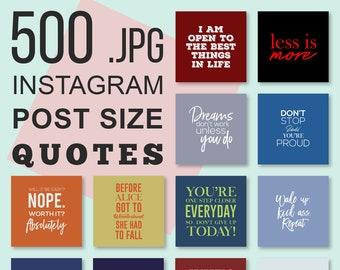 500 Instagram Stories Quotes Bundle Instagram Stories Etsy