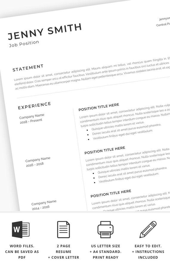 edit resume template word