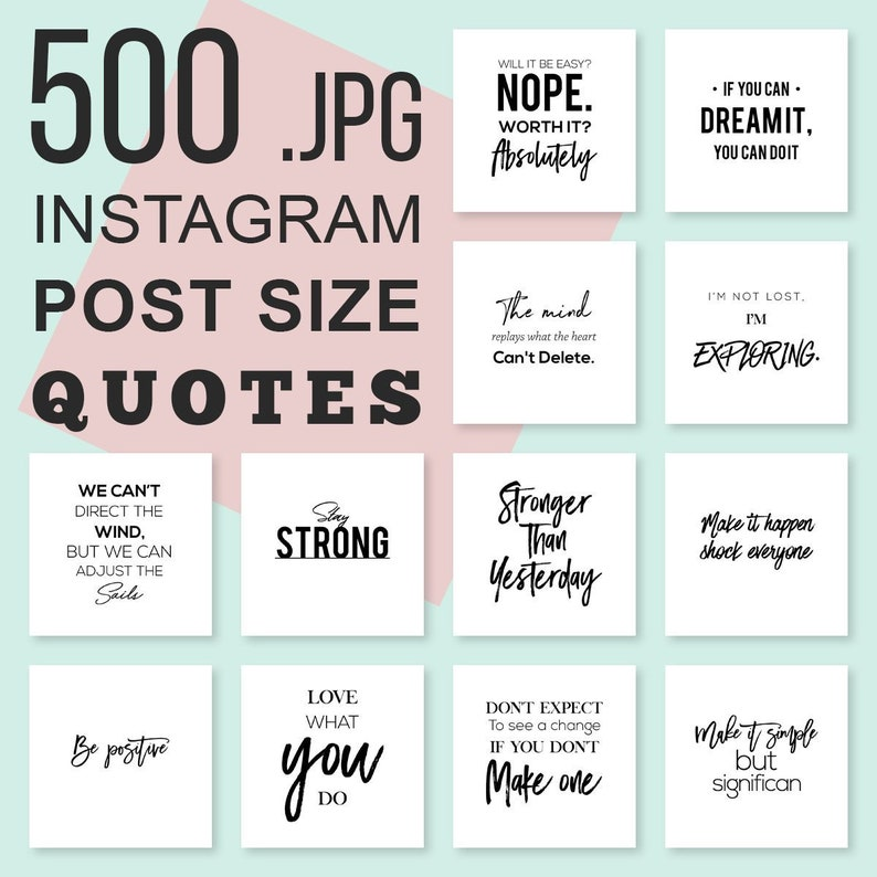 500 Instagram Essential Quotes Bundle Instagram Template Etsy