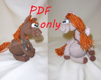 Little Horses Crochet Pattern amigurumi PDF