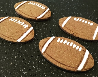 Peanut Butter Football Dog Biscuits