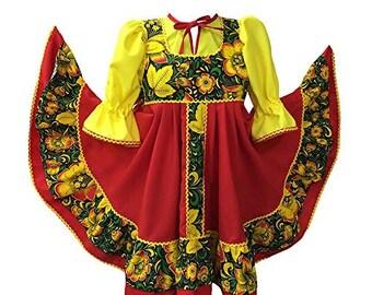 Russische Folklore Kleid Etsy