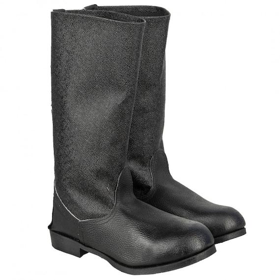 Soviet military black leather Kersey