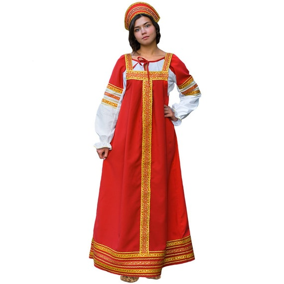 Russian Traditional Folk Costume Russian Style Russian