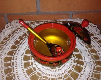 Khokhloma Sugar-bowl
