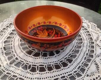 Khokhloma dish bowl, basin, tureen, pan, pipkin