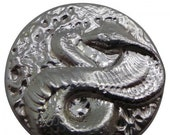 Cobra Snake Serpent Design Silver Round .999 Pure Silver Hand Poured 3.06 Troy Ounce
