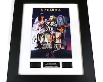 Beetlejuice Film Cell Original Movie Memorabilia in Picture Frame