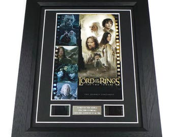 Lord Of The Rings The Two Towers Film Cell Movie Memorabilia Gift Framed Or Unframed Original Vintage Film Cells