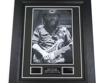 Lemmy Film Cells Motorhead Memorabilia Framed Or Unframed