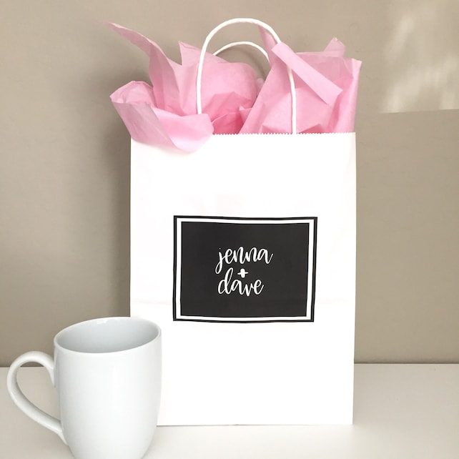 Custom Name Gift Bags Personalized Bridesmaid Gift Bag Custom