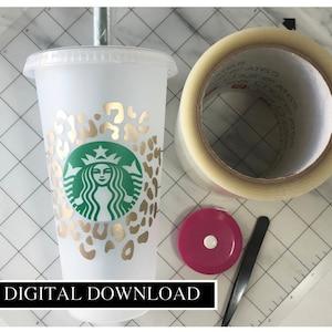 Animal Print Starbucks Coffee Svg File Leopard Starbucks Etsy
