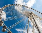The Big Wheel Paris Print, French Fine Art Photography, Amusement Park Wall Art Decor, Ferris Wheel Lover Gift for Women Men Kids Boys Girls