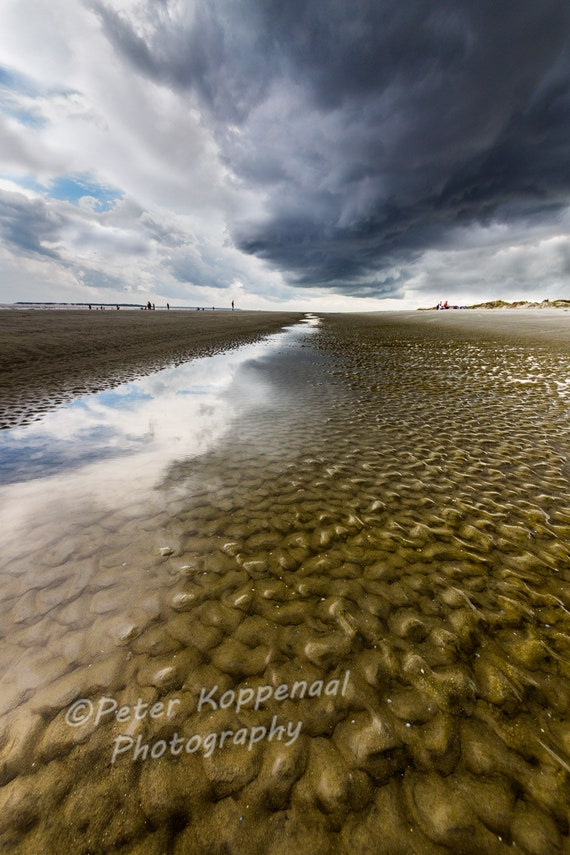 Stormy Beach Print Storm Front Clouds Fine Art Photography Jekyll Island Georgia Modern Ocean House Decor Sea Lover Gift For Women Men