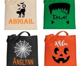 Halloween Trick Or Treat Bags Personalized.Trick Or Treat Bag Etsy