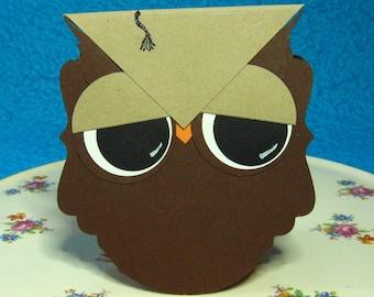 #184 School Congratulations Graduation Wise Owl