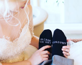 Cold Feet Socks - Groom Socks - Funny Wedding Socks - In Case You Get Cold Feet - Bachelor Party Gift - Grooms Wedding Socks - Funny Socks
