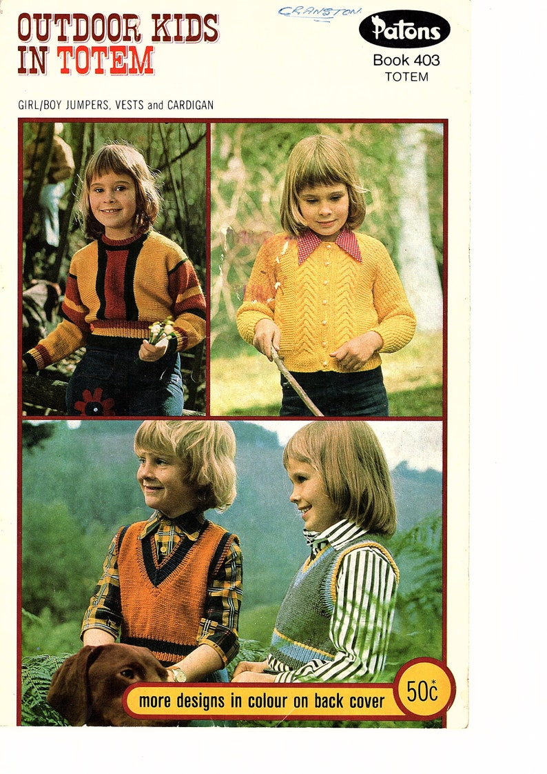 4e7fbe8dc5fa Patons Outdoor Kids in Totem Knitting Pattern Book 403