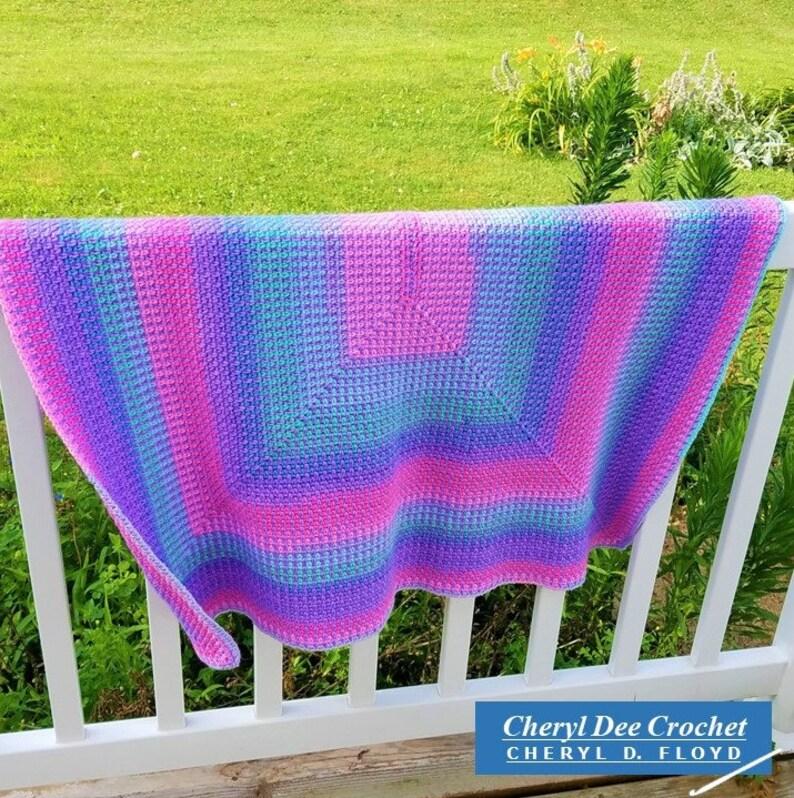 CROCHET PATTERN: Isla's Blanket  Radiating Moss Stitch image 0
