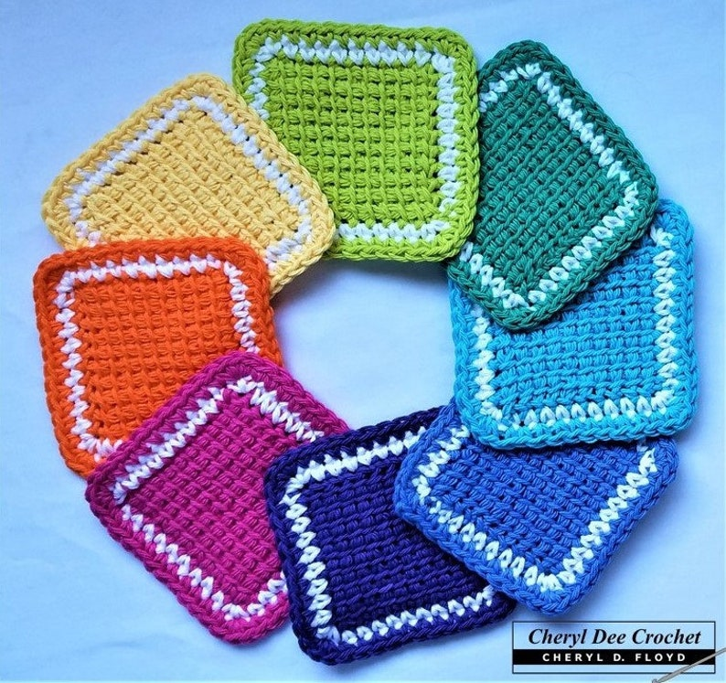 CROCHET PATTERN with FREE Video Tutorial: Simple Tunisian image 0