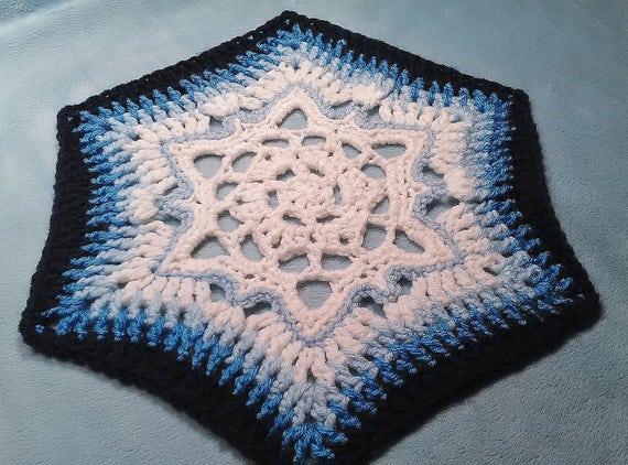 Crochet Pattern Arctic Whisper Snowflake Hexagon Etsy