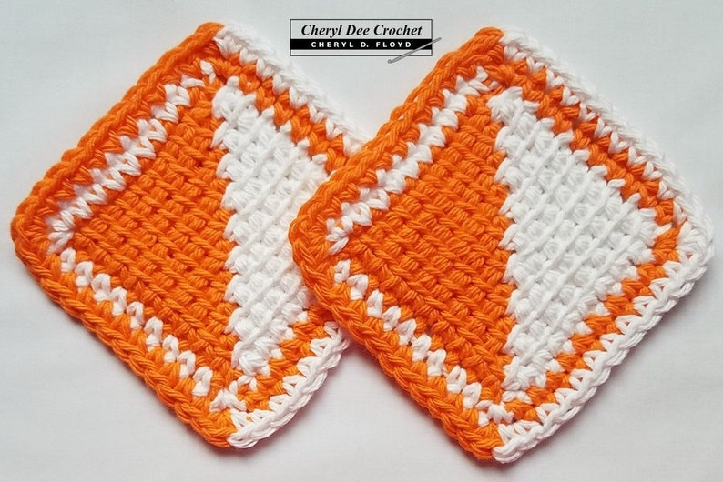 CROCHET PATTERN: Tunisian Mitered Coaster  learn to make a image 0
