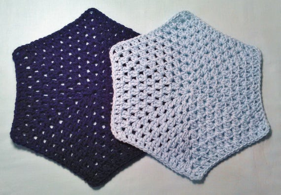 Crochet Pattern Simple Clusters Hexagon Afghan Block Blanket Etsy